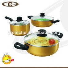 6 cocinero pc de aluminio forjado de utensilios de cocina de cerámica