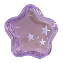2015 star print five-pointed star shape PVC cosmetic gift toy jelly zippered packaging bag package