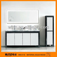 Hot sell and newest floor mount home pecor muebles plywood bathroom vanity