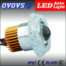 OVOVS red,green and blue rings color 30watt led motorcycle driving lights for motorcar