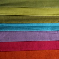 Different color supply solid faux silk for ready made curtains and cushion