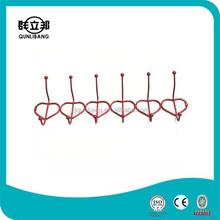 Wholesale Price Power Coating Wall-Mounted 6pcs Hooks Coat Hanger