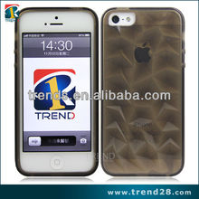 irregular pattern 3D effect TPU back case for apple iphone 5 5s