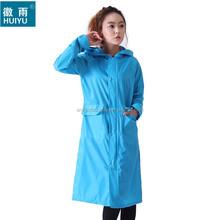 polyester durable men women OEM long poncho factory raincoat raingear rain wear