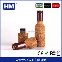 Popular wine cork shape USB flash drive 2GB4GB8GB16GB wooden USB pendrive Custom Solution print/laser engraving LOGO