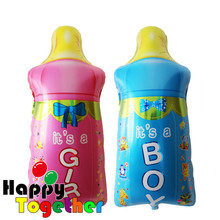 HAPPY TOGETHER Factory Wholesale New Arrival Hot Selling Pink And Blue Milk Bottle Shape Foil Balloon