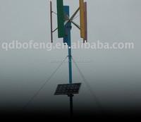 vertical wind generator for street lighting system