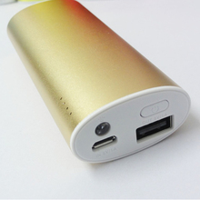 For macbook cell phone power bank with LED Torch Black White Purple Red color available