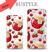 New! Beautiful cherry jam custom design mobile cover case for Apple iPhone 5s 6 plus for Samsung s5 s6 plus