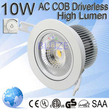Dimmable 4inch LED Downlight 10w COB LED,CRI>80,10W led downlights natural white