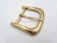 Famous High Polished Pin Metal Men Belt Buckle Branded In 35mm