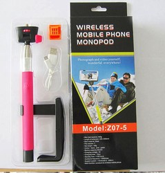 2015 extendable selfie stick wireless mobile phone accessories factory in China