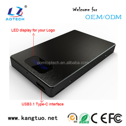 "2.5 inch SATA Aluminum HDD Case 2.5"" USB3.1(Type C) HDD Enclosure"