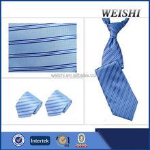 classic fashional navy striped silk neckties
