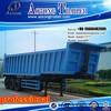 HYVA Hydraulic Cylinder Tri-axle Coal Dump Semi Trailer Tipping Trailer For Sale