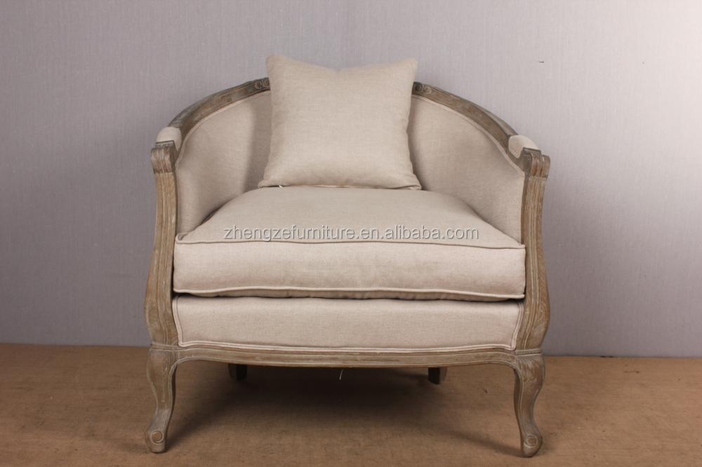 Estilo europeo muebles vintage un asiento sofá de tela sofá silla ...
