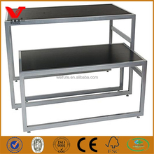 Sets of nesting display tables, wooden display furnitures for retail stores