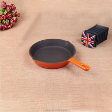 hot sale small size cast iron round grill pan