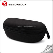 Canvas Black Zipper Portable Soft Folding Sunglasses Cases