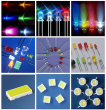(Original New ) 3mm/5mm flat top rgb led diode with battery