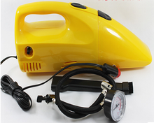 multifuctional portable car tire inflator pump plus dust collector