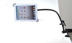 Aluminum 360 degrees rotatable design gooseneck tablet holder for reading and watching videos 7''-11''