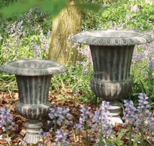 Large outdoor decorative yard fiberglass antique urns