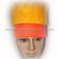 orange crazy hair red headband blank design