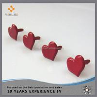 Metal craft heart brads