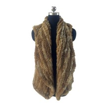 New design sleeveless stretched hand knitted vest rabbit fur