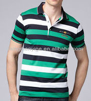 new style cotton striped men's T-shirt polo clothing hot sale discount men t shirt