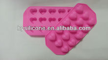 cute heart-shaped soft silicone ice tray