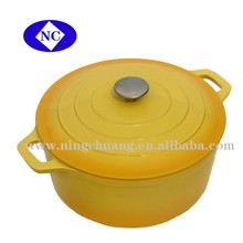 cast iron enamel cookware cooking hot pot