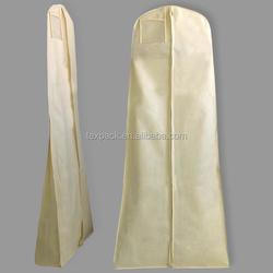 OEM non woven wedding bag dress cover with zipper