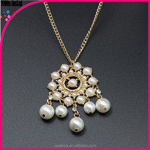 Selling the European and American foreign trade joker sweater chain Long pearl necklace
