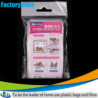 HDPE clear plastic zip lock storage bag for food/fruit especially for dry food