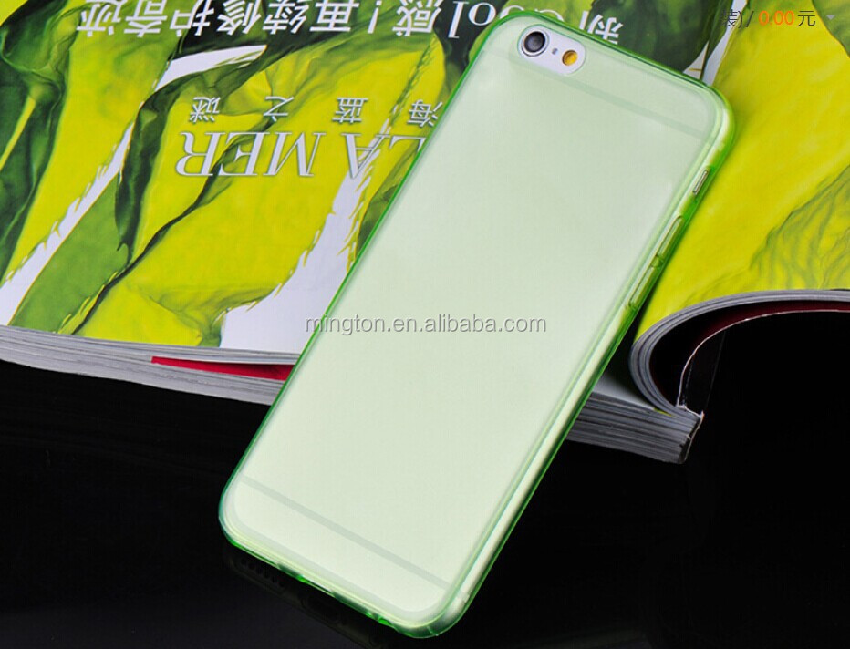 Super thin tpu mobile phone cover for iphone 6