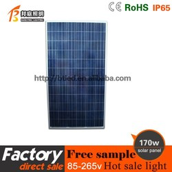 Promotional cheap price 170w polysilicon solar panel for home use