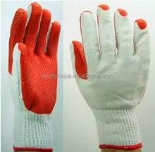 Durable red rubber palm glove