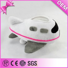 Top quality plane shaped plush mobile phone holder, airplane stuffed toy, plush toy plane