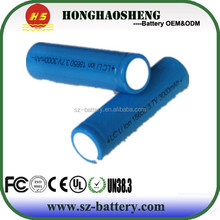 Free Shipping 2pcs 18650 3.7V 3000mAh Protected Rechargeable Battery