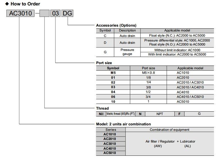 Ac4010 Air Filter Regulator Lubricator Buy Air Filter Regulator
