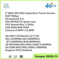 "Original Doogee F2 IBIZA 5.0"" MTK6732 Quad Core Android 4.4 1GB RAM 8GB ROM 13.0MP OTG 4G LTE Dual SIM Cell Phone"
