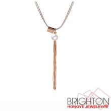 Pop Gold Fringe Pendant Necklace N7-9433