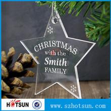 Cheap Christmas decoration plastic acrylic plexiglass Christmas ornament