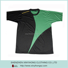 100% polyester mesh fabric men's sports t shirts with custom design