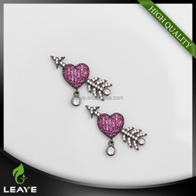 Brand new bow and arrow 925 silver jewelry earrings with high quality