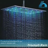 JFQ046CP square big rainfall head shower led head