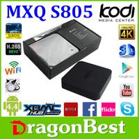 Kodi Full Hd1080P 802.11B/G/N Wifi Amlogic S805 Quad Core Ott Ir Remote Control Mxq Android Wireless Internet Tv Box