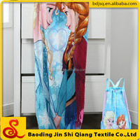 Promotional Printed Folding Beach Towel Bag 100% cotton